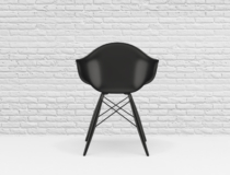Black Molded Shell Chair